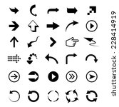 universal outline icons for web ... | Shutterstock . vector #228414919