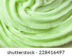 close up of green icing on a... | Shutterstock . vector #228416497