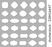 blank frame and label set | Shutterstock .eps vector #228416647