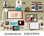 flat design vector illustration ... | Shutterstock .eps vector #228419941