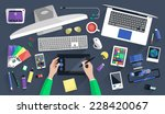 flat design vector illustration ... | Shutterstock .eps vector #228420067