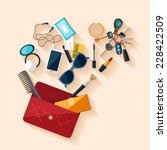 open female bag. flat design. | Shutterstock .eps vector #228422509