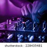 Stock photo dj music night club 228435481