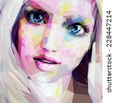 low poly abstract portrait of... | Shutterstock .eps vector #228447214