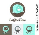 vector modern flat coffee shop  ...   Shutterstock .eps vector #228448429
