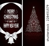 christmas card with a christmas ... | Shutterstock .eps vector #228451579