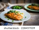 Salmon Steak With Mashed...