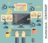 illustration with flat coding...