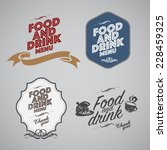 set of vintage retro labels ... | Shutterstock .eps vector #228459325