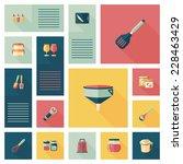 kitchenware flat app ui...