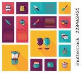 kitchenware flat app ui... | Shutterstock .eps vector #228463435