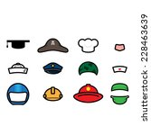cute occupations hat icon vector | Shutterstock .eps vector #228463639