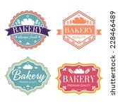 collection of vintage retro... | Shutterstock .eps vector #228466489