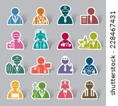 occupation color icon label | Shutterstock .eps vector #228467431