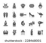 beauty and cosmetic icons | Shutterstock .eps vector #228468001