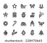 christmas element icons | Shutterstock .eps vector #228470665