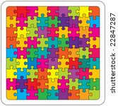 colorful jigsaw puzzle | Shutterstock . vector #22847287