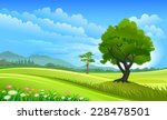 green country side | Shutterstock .eps vector #228478501