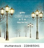 christmas evening landscape... | Shutterstock .eps vector #228485041