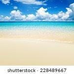beautiful beach and tropical sea | Shutterstock . vector #228489667