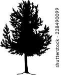 illustration with large tree... | Shutterstock .eps vector #228490099
