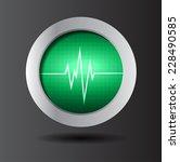 green pulse heart glossy web... | Shutterstock .eps vector #228490585