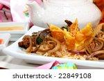 chinese crab rangoon and...