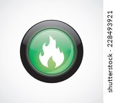 fire glass sign icon green...