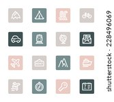 travel web icons set | Shutterstock .eps vector #228496069