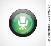office chair glass sign icon...