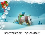 new year gift box with bubbles | Shutterstock . vector #228508504