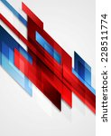 Blue and red hi-tech motion design. Vector background - stock vector