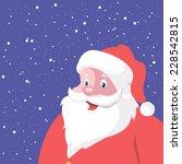 vector christmas santa claus... | Shutterstock .eps vector #228542815