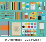 colored flat design vector... | Shutterstock .eps vector #228542857