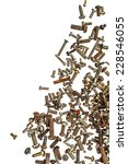 isolated pile of rusty bolts... | Shutterstock . vector #228546055