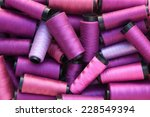 Colorful Threads In Purple Tone