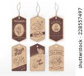 Vintage Labels With Stripe Wit...
