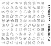 bundle  002 vector clean icons... | Shutterstock .eps vector #228558391