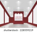 vector interiors. exhibition... | Shutterstock .eps vector #228559219