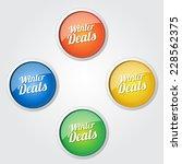 winter deals colorful vector... | Shutterstock .eps vector #228562375