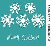 snowflakes  vector illustration | Shutterstock .eps vector #228578911