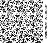 Seamless pattern olive branch - stock photo