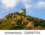 la tour de la parata   a ruined ... | Shutterstock . vector #228587731