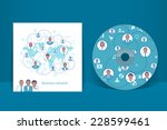 cd cover design template.... | Shutterstock .eps vector #228599461