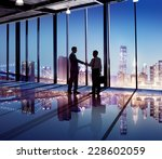 silhouette of business people... | Shutterstock . vector #228602059