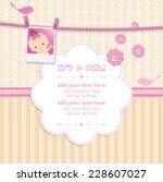 baby shower invitation... | Shutterstock .eps vector #228607027