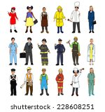 multiethnic group of children... | Shutterstock . vector #228608251