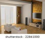 modern interior of living room... | Shutterstock . vector #22861000
