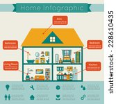 Infographic Home. Flat Style...