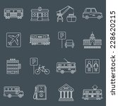 city infrastructure icons... | Shutterstock .eps vector #228620215